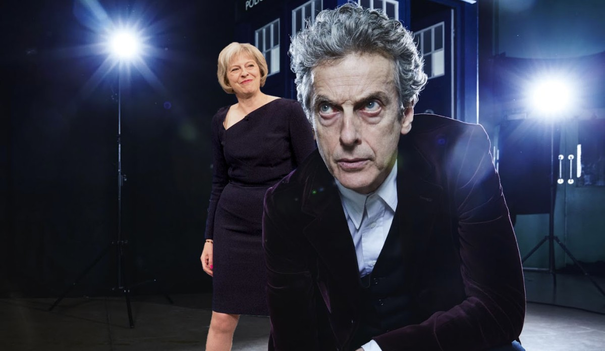 Theresa May cast as new Doctor Who companion